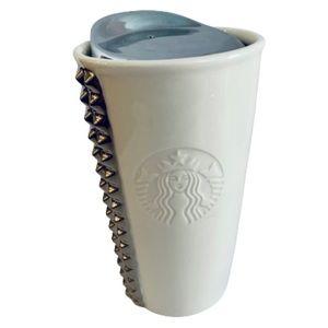 Rare Starbucks White Silver Studded Tumbler